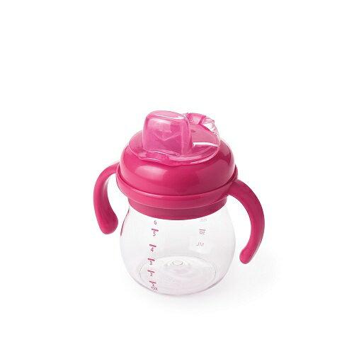 【淘氣寶寶】【美國oxo】OXO Grow TM 可拆卸 手把 矽膠鴨嘴訓練杯 - 粉色 6oz / (150ml)【總代理公司貨】