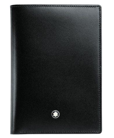 萬寶龍MONTBLANC-經典亮面皮夾(4格信用卡袋)