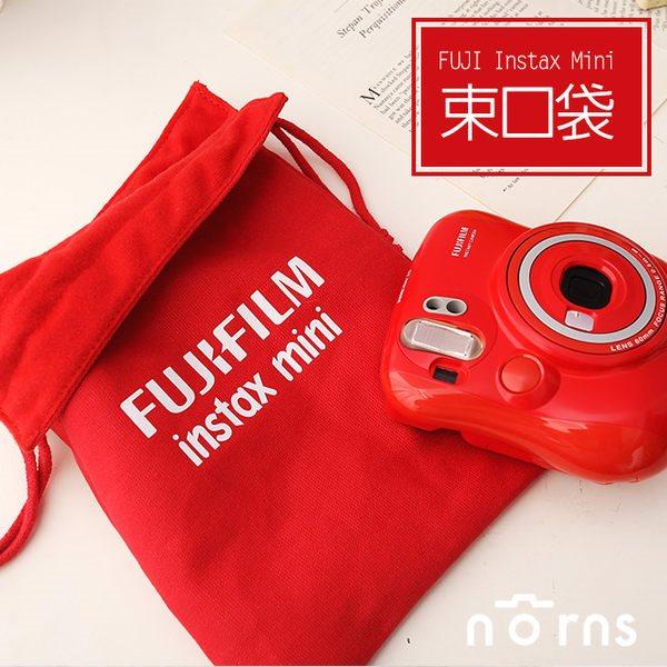 NORNS 限定版Fujifilm 大紅色加厚拍立得相機束口袋 厚棉內裡 mini 7s