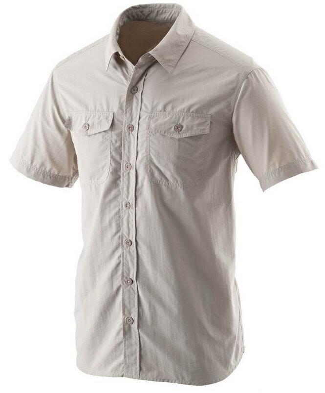 【【蘋果戶外】】荒野 W1206-83 卡其 WildLand 男 可調節抗UV素面長袖襯衫 不黏膩休閒襯衫 輕薄 透氣 快乾 襯衫外套 防曬外套 團體服裝