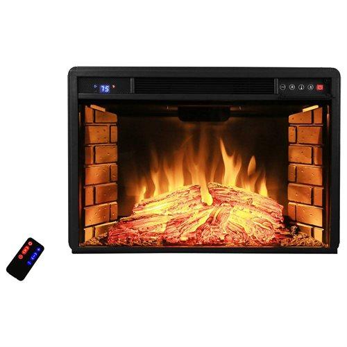 "AKDY 28"" AK-EF05-28R Black Electric Firebox Fireplace Heater Insert W/Remote 0"