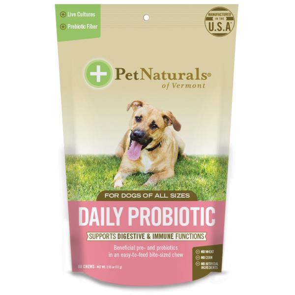 美國PetNaturals寶天然狗狗嚼碇DailyProbiotic腸胃好好,狗狗保健,60顆