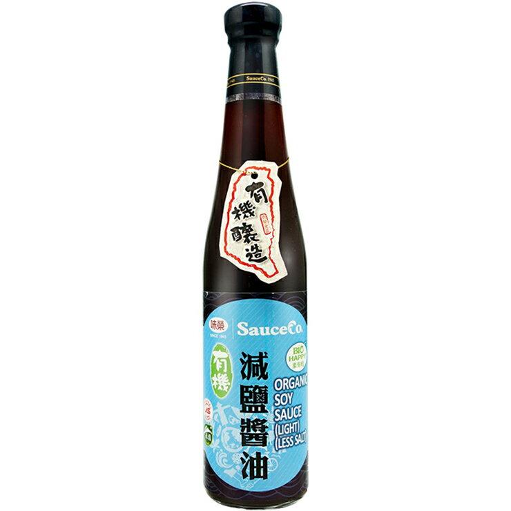【味榮】有機減鹽醬油420ml