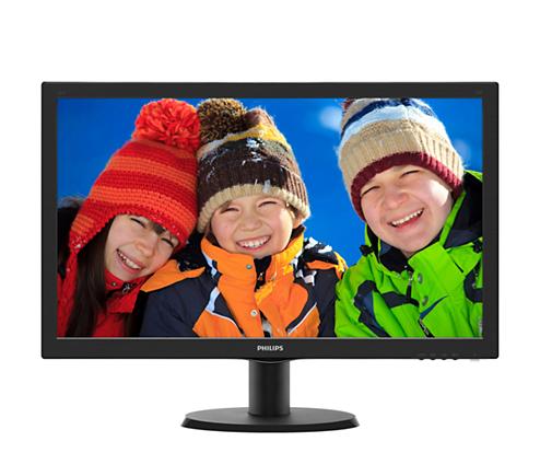 飛利浦 PHILIPS 24吋 液晶螢幕 MVA 廣視角 寬螢幕 (HDMI/DVI/D-sub) 內建喇叭 黑 支援 VESA 掛壁