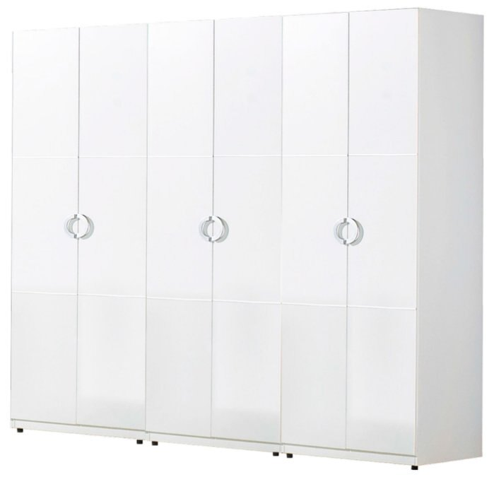 【尚品家具】JF-051-B 凱倫7X7尺白色組合衣櫃