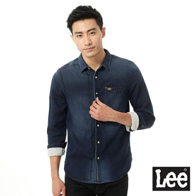 Lee 101+ 牛仔長袖襯衫-男款 0