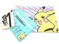 Pokemon:精靈寶可夢到寶可夢 皮卡丘 3連 拉鍊袋
