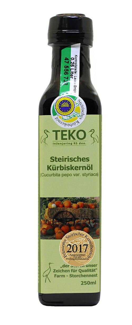 TEKO特級南瓜籽油 250ml
