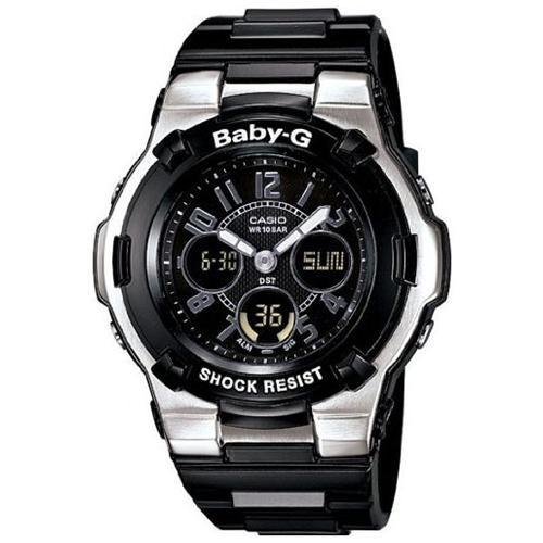 Casio BGA110-1B2C Women Baby-G Analog Digital Black Chaton Style Bezel Watch 0