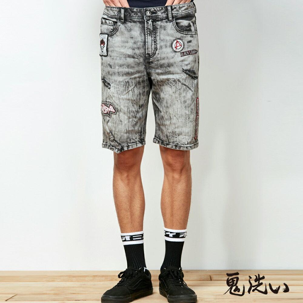 【春夏新品】鬼洗潮標水洗刷破短褲  - BLUE WAY  ONIARAI鬼洗 0