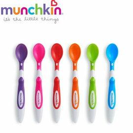 【淘氣寶寶】美國 Munchkin 安全彩色學習湯匙6入(3個月以上適用)