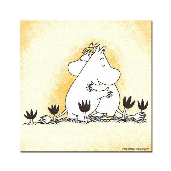 YOSHI850:Moomin嚕嚕米-無框畫:【有你在真好】(正方)