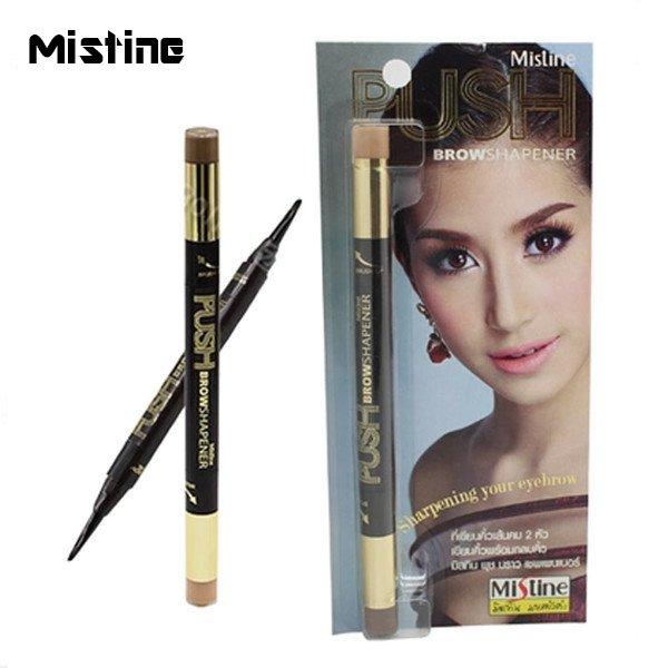 泰國MistinePUSH雙頭眉筆染眉膏+遮瑕膏【櫻桃飾品】【24450】