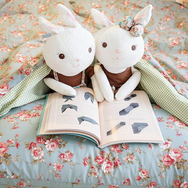 愛麗絲之花【床包綠色格子】  單人/雙人賣場   舒適磨毛布 台灣製造 1