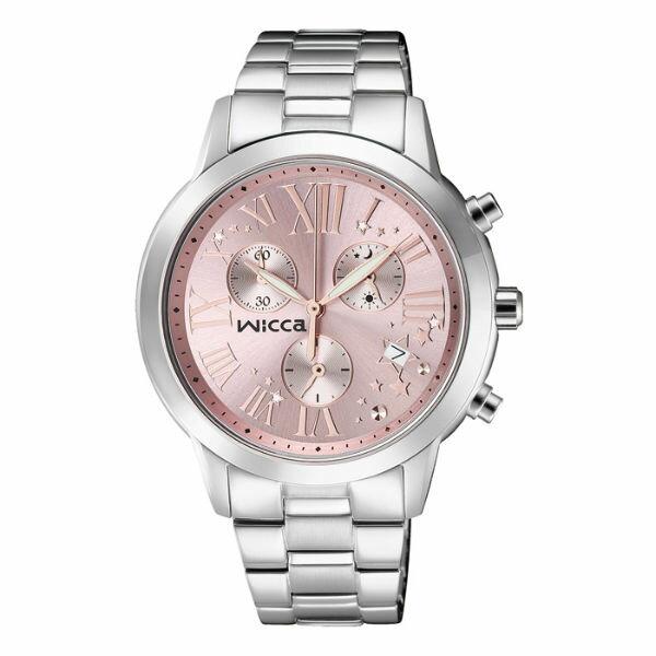 CITIZEN星辰WICCA^(BM1~211~91^)羅馬三環 腕錶  粉紅面38mm