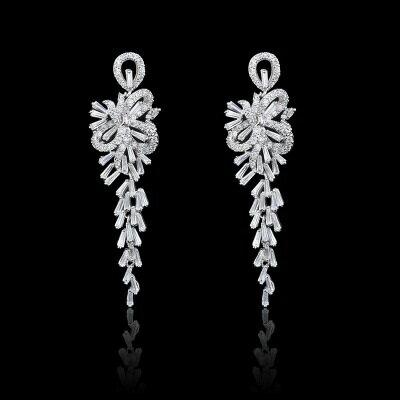 925純銀耳環鑲鑽耳飾~ 奢華璀璨 生日情人節 女飾品2色73hz80~ ~~米蘭 ~