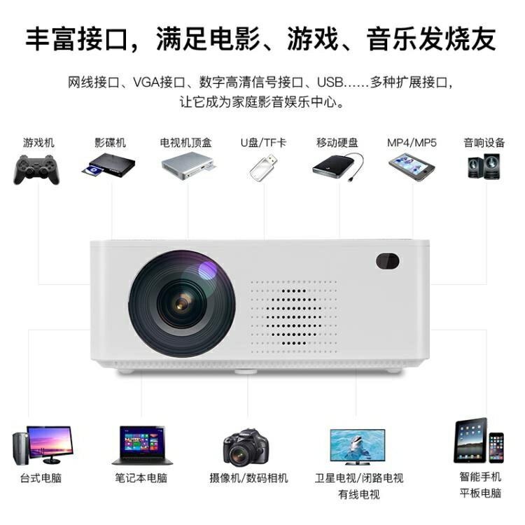 投影儀家用 2020年新款wifi無線手機投影機支持1080P高清家庭影院 NMS