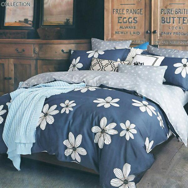 100%純棉5x6尺春夏涼被空調被「夢境花-藍」【YV9628】快樂生活網