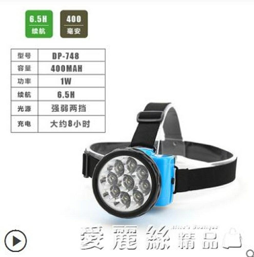 頭燈頭燈充電式LED強光遠射頭戴式電筒戶外探照釣魚燈大功率礦燈 清涼一夏钜惠