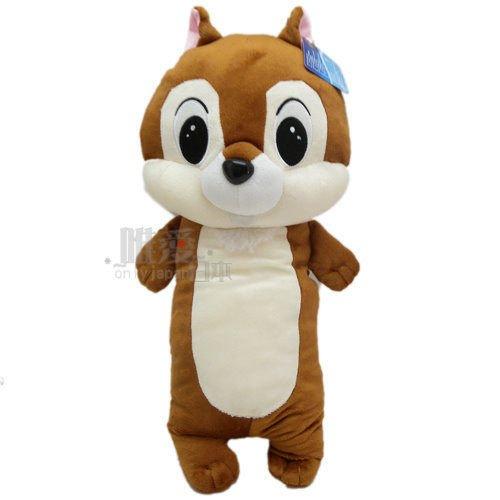 【真愛日本】12121000034 全身長抱枕3號-50cm奇奇 迪士尼 花栗鼠 奇奇蒂蒂 松鼠 長抱枕 娃娃