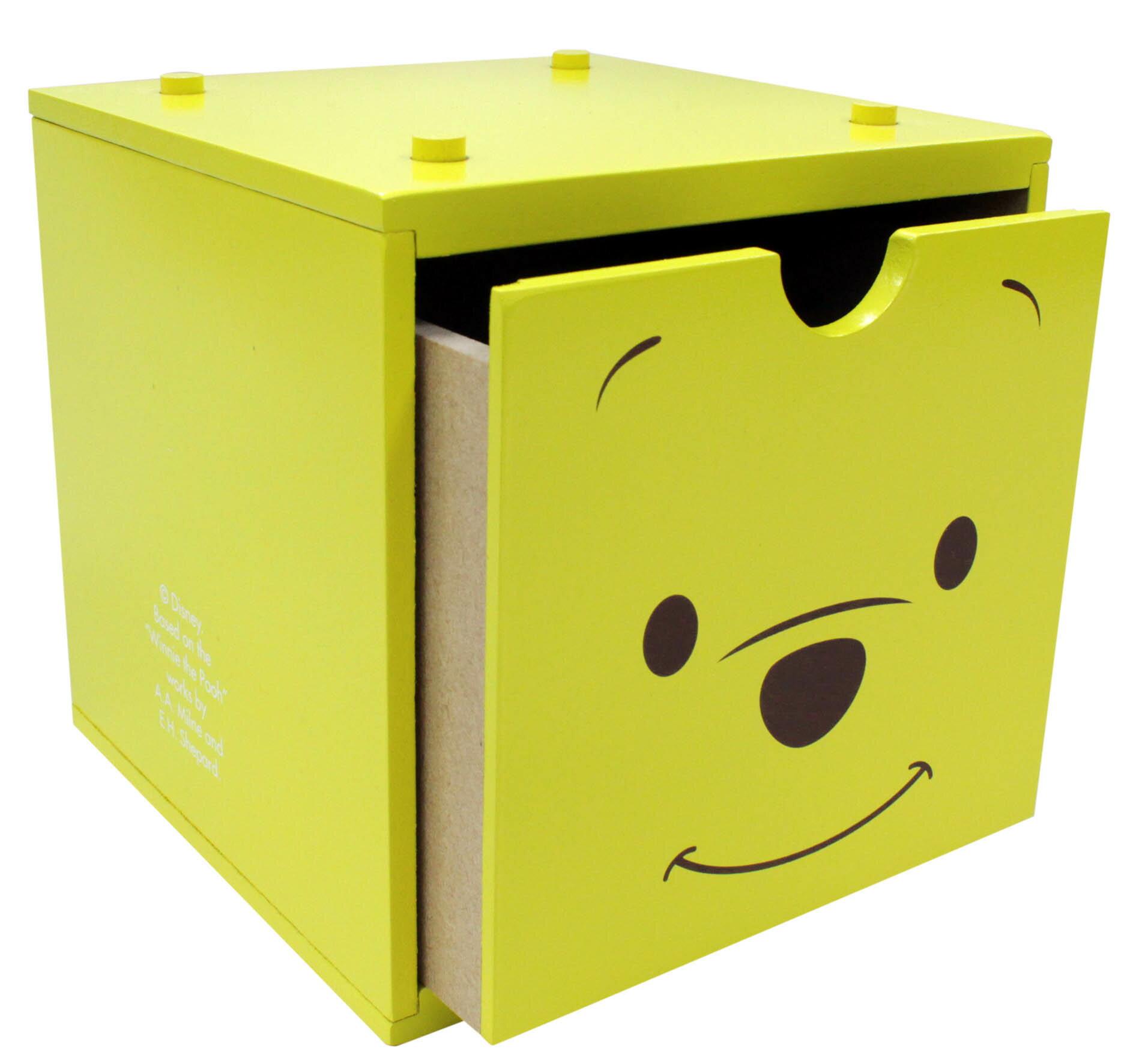 【真愛日本】16122900006積木收納盒-PH   迪士尼 小熊維尼 POOH 維尼熊 居家 收納盒 正品 限量