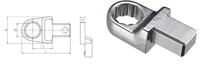 *韋恩工具* AOK 14X18MM 11件 扭力接頭 梅花 板手組 FHRK2-11