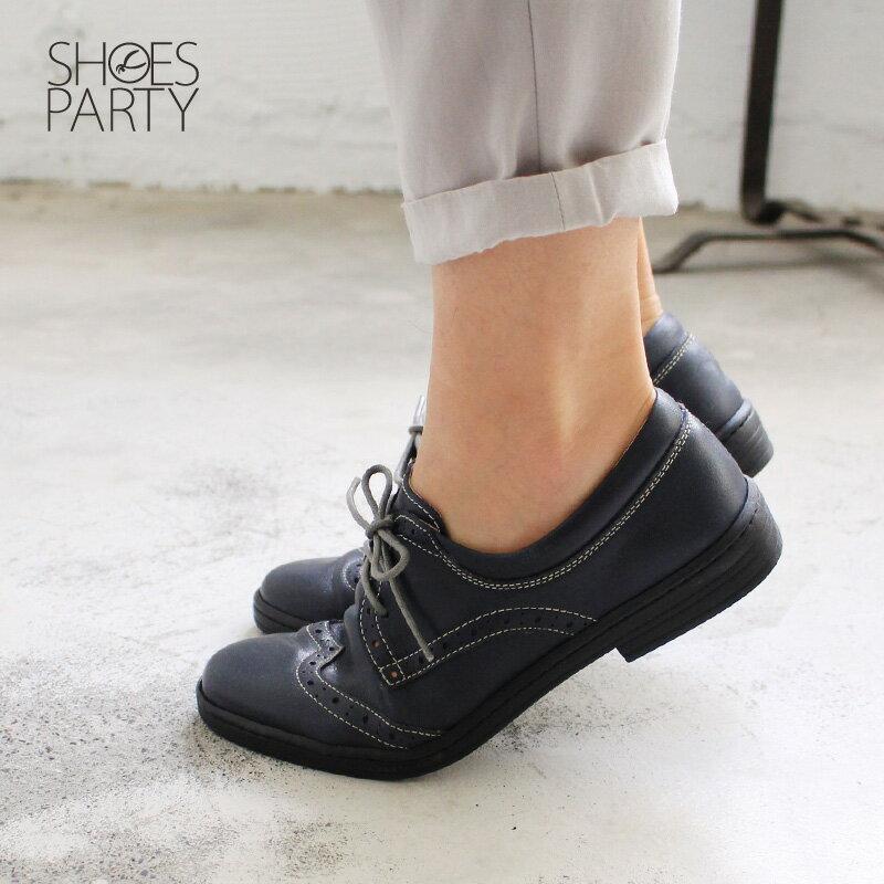 【F2-17711L】內外全真皮牛津休閒鞋_Shoes Party 2