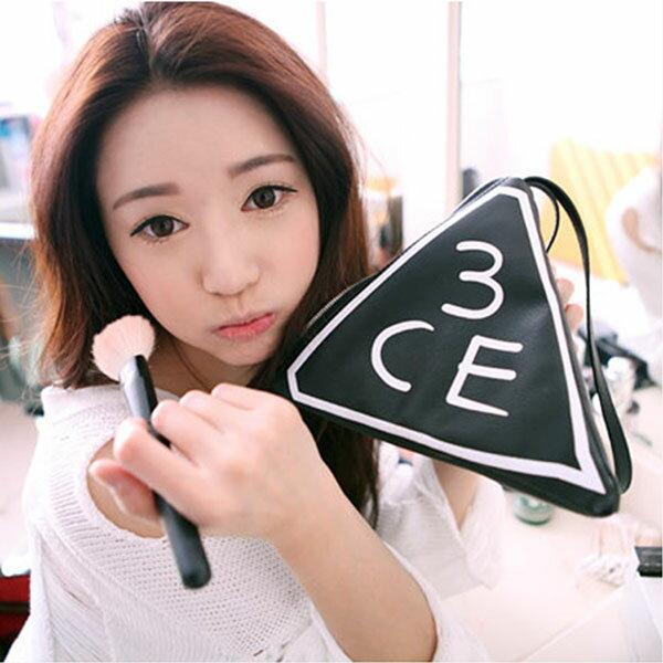 3CE化妝包 - 3CE Stylenanda原裝空運 個性立體PU手提化妝包 輕巧好攜帶收納包【AN SHOP】 - 限時優惠好康折扣