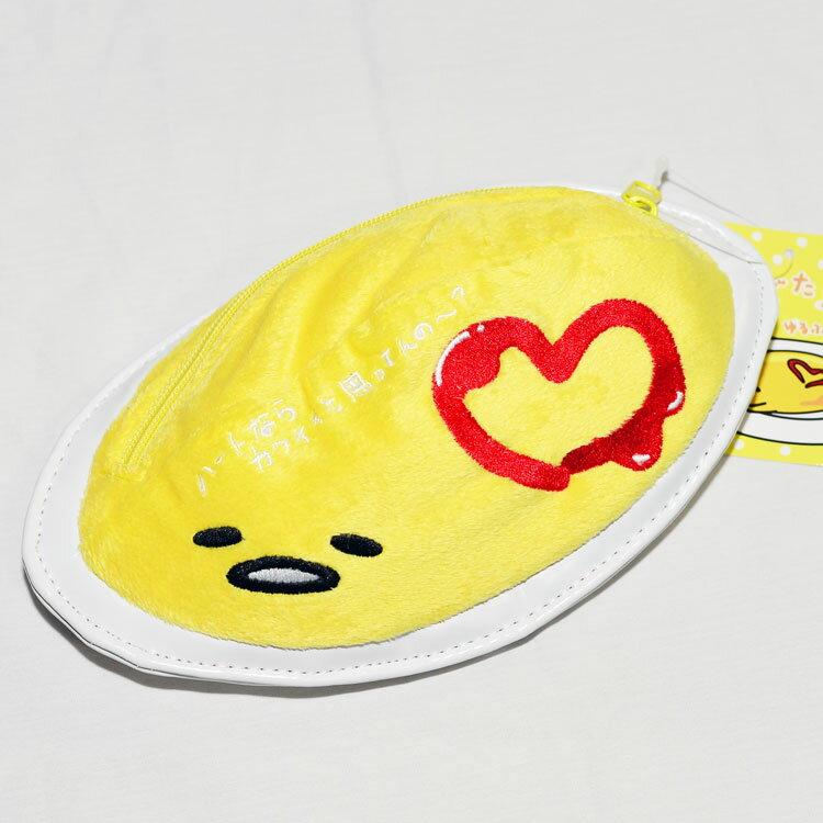 蛋黃哥 歐姆蛋包飯 筆袋 化妝包 包包 收納包 日本正版商品