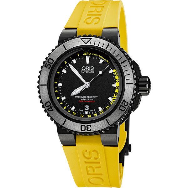 ORIS 豪利時 0173376754754-SetRS時間之海深度測量潛水套錶/黑面46mm