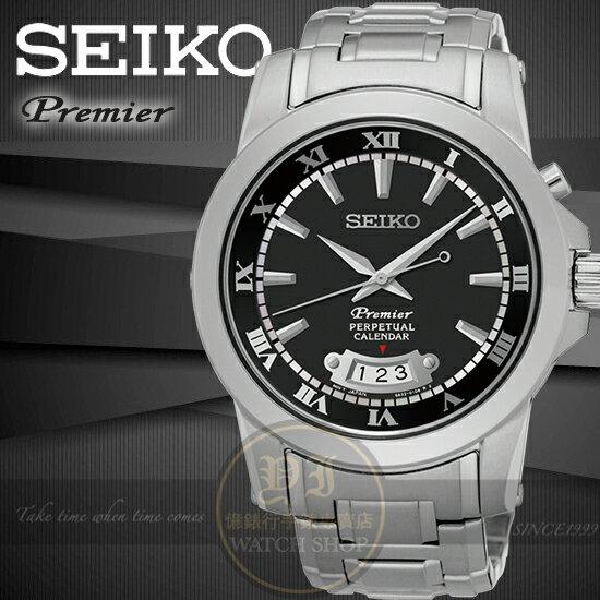 SEIKO日本精工PREMIER都會典藏萬年曆紳士腕錶6A32-00X0B/SNQ147J1公司貨