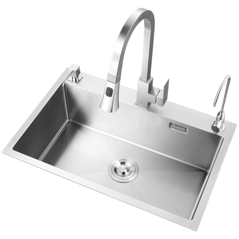 304不銹鋼洗菜盆單槽 廚房水槽加厚洗碗槽水池洗菜池