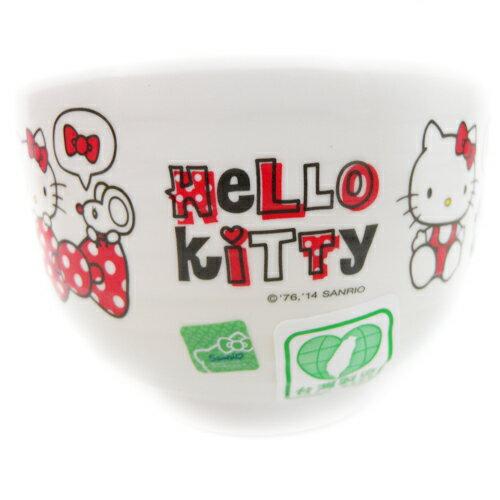 【真愛日本】15091900002日式湯碗-紅 三麗鷗 Hello Kitty 凱蒂貓 湯碗 飯碗 小碗 正品