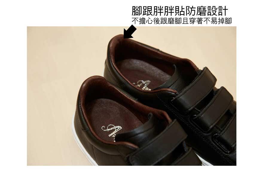 口碑胖瘦腳都不怕可調整真皮休閒氣墊鞋【QT12281380】AppleNana蘋果奈奈 4