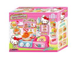 【崑山玩具x日韓精品】Hello Kitty 凱蒂貓-聲光瓦斯爐廚房組