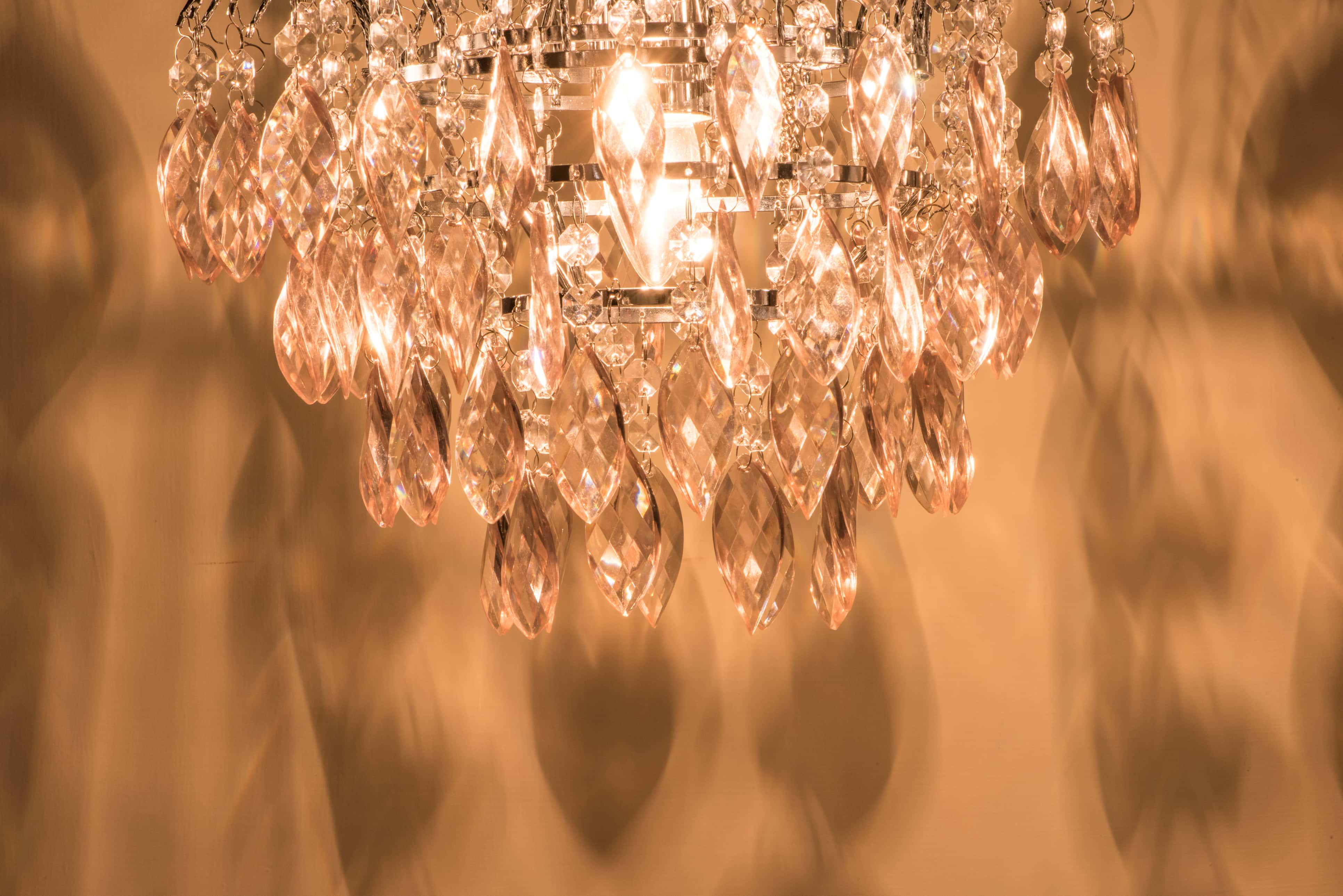 紅香檳色八角壓克力珠鍍鉻吊燈-BNL00060 6
