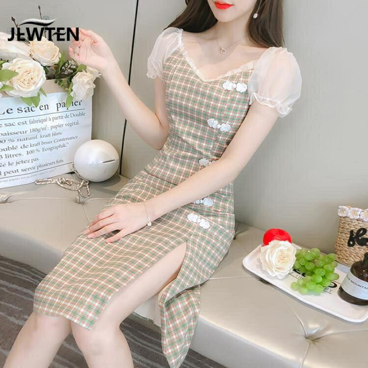 時尚少女旗袍改良版連衣裙女裝夏2020年新款年輕款氣質女神范衣服 夏洛特居家名品