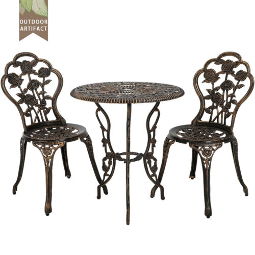 New Outdoor Bistro Set Patio Table 3 Piece And Chairs Garden 0