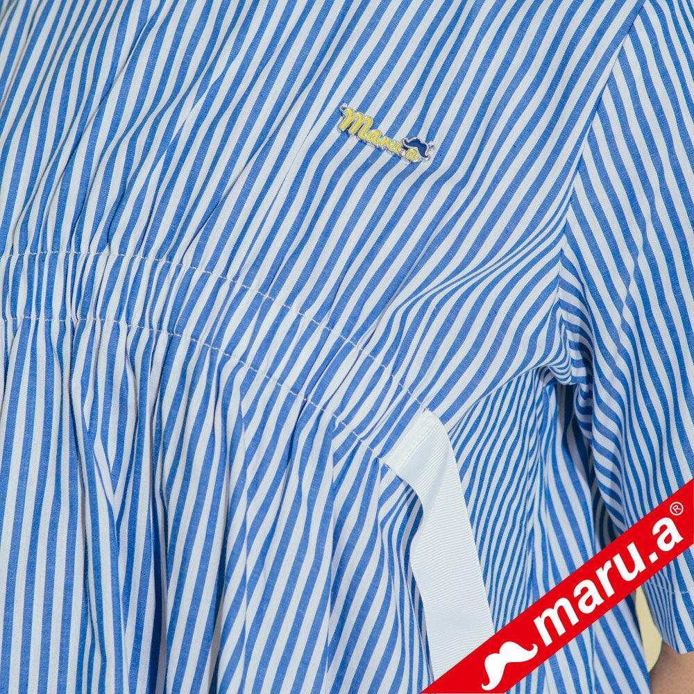 【maru.a】領口挖空舒適上衣(2色)8313112 2