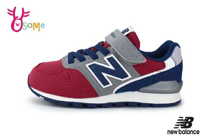 OSOME奧森鞋業 New Balance 996 男童運動鞋 中大童 復古慢跑鞋 O8415#紅藍 奧森