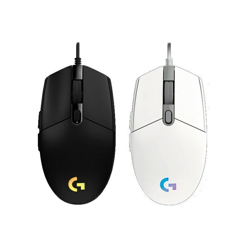 Logitech 羅技  G102 LIGHTSYNC 遊戲 電競滑鼠 黑 白 / RGB/ DPI 切換 /自訂按鍵/按鍵張力