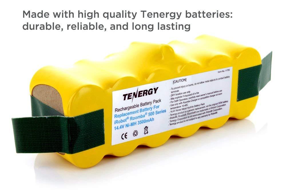 Tenergy 3500mAh Replacement Battery for iRobot Roomba R3 500 600 700 800  900 Series 3 5Ah 14 4V Advanced Power System (APS) NiMH iRobot Battery  Bonus