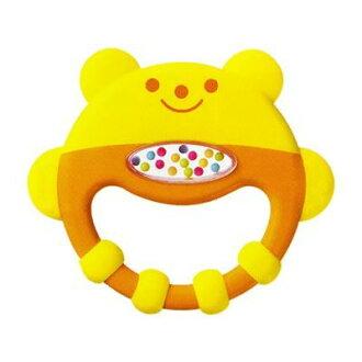 ★衛立兒生活館★康貝 Combi 小熊手搖固齒玩具