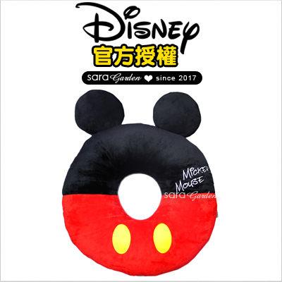SaraGarden:正版迪士尼Disney米奇刺繡坐墊靠枕午睡枕抱枕靠枕汽車辦公室柔軟絨毛