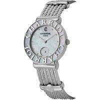 CHARRIOL夏利 經典 秒針鋼索腕錶 珍珠母貝