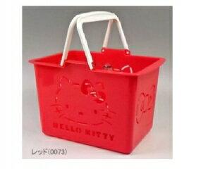 現貨 日本帶回 三麗鷗 HELLO KITTY紅色小朋友玩具提籃 迷你菜籃 日本製