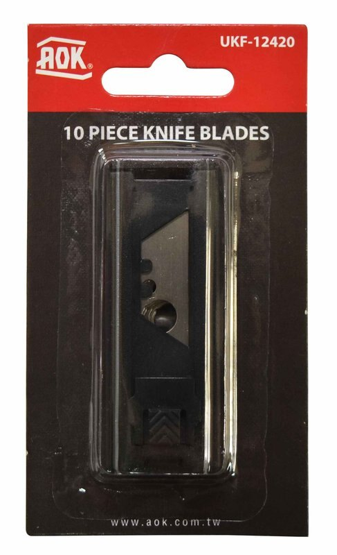 ~韋恩工具~ AOK 安全工作刀 美工刀 彈簧刀 備用刀片 10片裝 UKF~12420