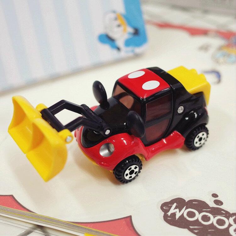 PGS7 日本迪士尼系列商品 - 樂園 限定 小車 - 米奇 Mickey 推土機 米老鼠 多美 小汽車【STD7832】
