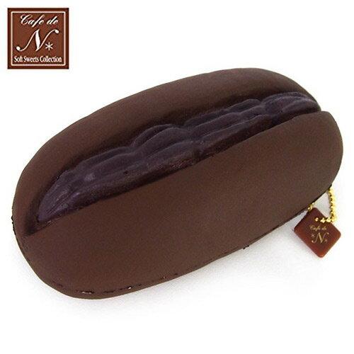 巧克力款【日本進口】夾心麵包 捏捏吊飾 吊飾 捏捏樂 軟軟 CAFE DE N SQUISHY - 617347