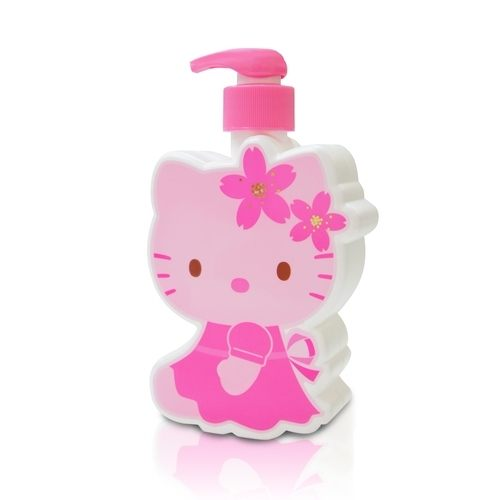 ☆Hello Kitty☆凱蒂貓櫻花玻尿酸沐浴乳-3D造型公仔 - 350 ml 精美Kitty 造型瓶罐值得收藏(最佳使用期限:2018/2/3)